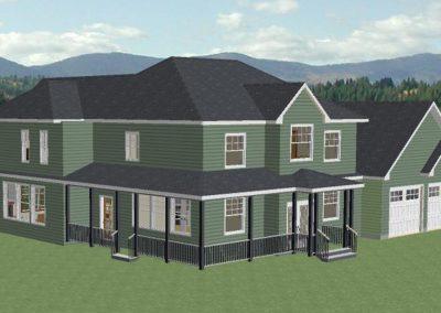 Projet résidentiel - Maison avec porche - Avant