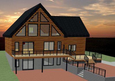 Projet résidentiel - Chalet de bois rond