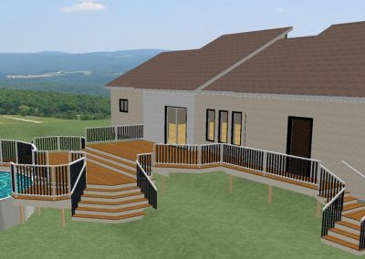 Projet résidentiel - Aménagement extérieur, Patio